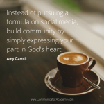 Interview With Amy Carroll, Part 3: Building a Platform with Heart